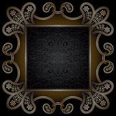 Cadre carré or — Vecteur