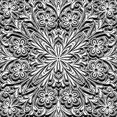 черный и белый узор — Cтоковый вектор