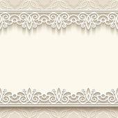 Fondo de encaje de papel — Vector de stock