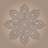 Vintage lace doily — Stock Vector