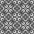 Black and white lace pattern — Stock Vector #44985003