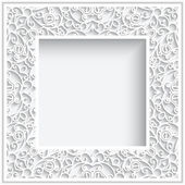 Square paper frame — Stock Vector