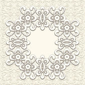 Vintage lace background — Vector de stock