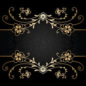 Guld floral bakgrund — Stockvektor