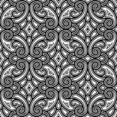 Black and white swirly pattern — Stock Vector
