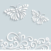 Paper butterfly background — Vector de stock