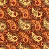 Autumn paisley pattern — Stock Vector