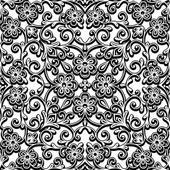Black and white curly pattern — Stock Vector