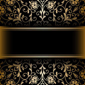 Gold ornamental background — Stock Vector