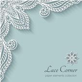Paper lace corner — Stock Vector