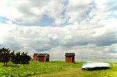 Fishermens cabins — Stock Photo