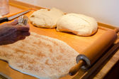 Making cinnamon buns — Stock Photo