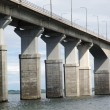 Bridge columns — Stock Photo