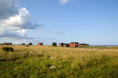 Fishermens old cabins — Stock Photo