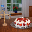 Stock Photo: Midsummer cake