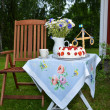 Stock Photo: Small midsummer table