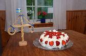 Midsummer cake — Stock Photo