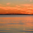 Oland bridge at sunset — Stock Photo
