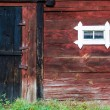 Weathered barn wall — Stock Photo