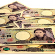 Japanese paper money — Stock Photo #34509391