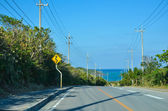 Tropical road view — Stockfoto
