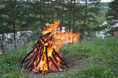 Outdoor fire — Stock Photo