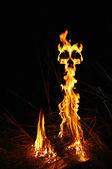 Fire demon — Stock Photo