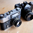 Stock Photo: Old cameras
