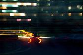 Night automobile lights — Stock Photo