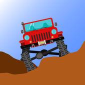 Off-road car — Stock Vector