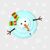 Lève les bonhomme de neige — Vecteur