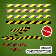 Under construction set - Stock Vector