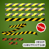 Under construction set — Stock Vector