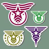 Military style logo set — Stock Vector