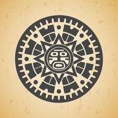 Maya sun — Stock Vector