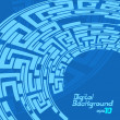 Wektor stockowy : Labyrinth pattern blue