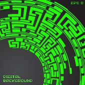 Labyrinth pattern blue — Stock Vector