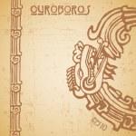 Maya snake Quetzalcoatl ouroboros half — Stock Vector #30318665