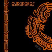 Maya snake Quetzalcoatl ouroboros half — Stock Vector