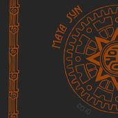 Maya sun half — Stock Vector
