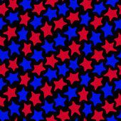 звезды бесшовные красный и синий — Cтоковый вектор