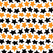 Stars seamless black and orange — Stock Vector