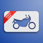 Kağıt motosiklet kartı — Stok Vektör