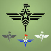 Military style eagle emblem set — Stock Vector