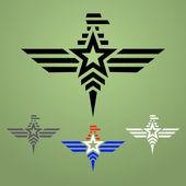 Military style eagle emblem set — Stock Vector