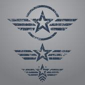 Military style emblem set — Stock Vector