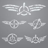 Airforce emblem set — Stock Vector