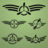 Airforce emblem set — Stock Vector