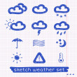 Weather sketch set — Stock Vector