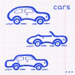 Paper car set — Vector de stock